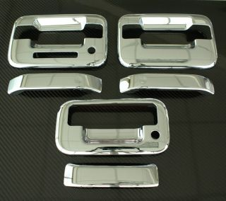 2004 2011 Ford F150 3DR Chrome Door Tailgate Handle Cover 4