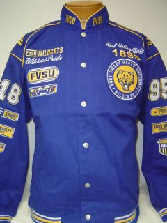 Fort Valley State U Fvsu Wildcats Racing Style Jacket