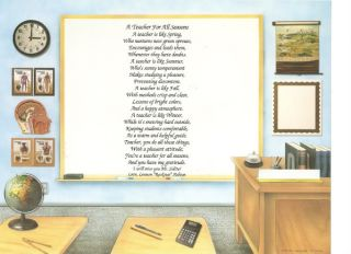 Personalized Gift for School Teacher Poem Print U Pick