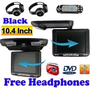 10 Gray Car DVD Player Flip Down Monitor Roof Mount FM USB Wireless