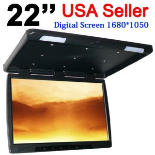 Off 22 TFT LCD Screen Roof Mount Flip Down Truck Video Monitor