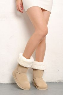 Style Women Beige Winter Snow Boots Shoes Eur Size #35~#40 S1504