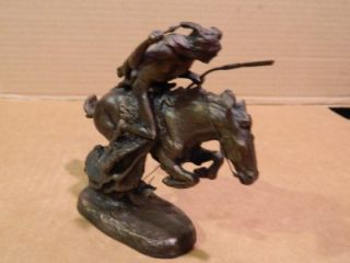 Cheyenne  Sculpture Frederic Remington Franklin Mint 1988