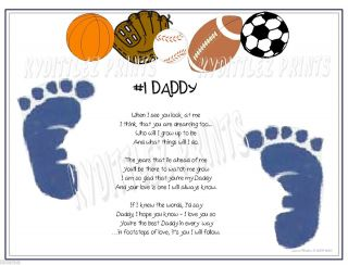 All Sport Fathers Day Footprint Poem Footsteps of Love