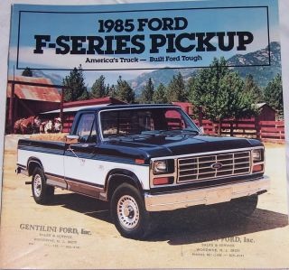 1985 ford f series pickup original sales brochure 23 pages brochure
