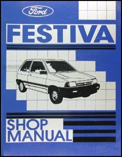 1988 Ford Festiva Shop Manual Original 88 L LX Repair Service Book