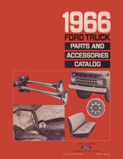 1966 Ford Truck Parts Book List Guide Catalog Manual