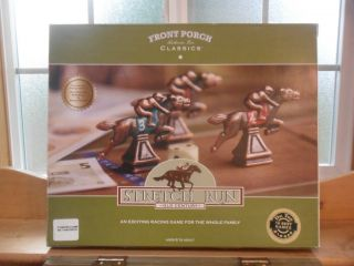 Old Century Front Porch Classics Stretch Run Horse Racing Game  New in
