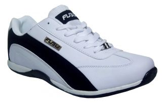 FUBU Hydrogen Mens White Black Low Top Casual Athletic Sneakers