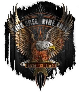 LIVE FREE RIDE FREE EAGLE American USA VINYL STICKER DECAL Art by Hot