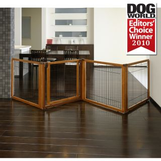 Elite Freestanding Pet Dog Gate Room Divider & Pet Pen in 1