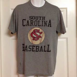 Russell Athletic South Carolina Gamecocks Baseball T Shirt Thin Soft