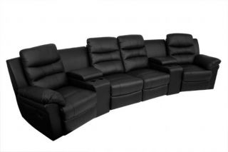 Seatcraft Genesis Home Theater Seating 4 Recliners / 2 Wedges Black