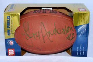 GARY ANDERSON AUTOGRAPHED SIGNED OFFICIAL NFL GAME FOOTBALL MN VIKINGS