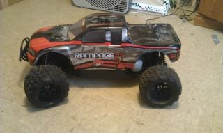 Gas Powered Redcat Rampage 30cc 4WD RC Truck