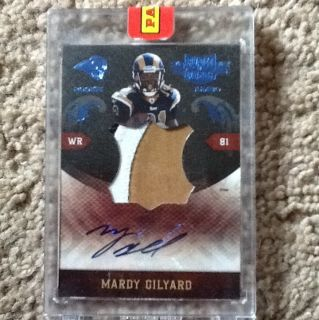 Mardy Gilyard 12 25 Autograph Jersey Patch Rookie Plates And Patches