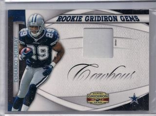 2011 Panini Gridiron Gems Prime DeMarco Murray patch card /50 Dallas