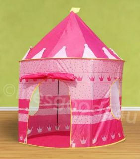 FOLDING PINK PRINCESS PLAY TENT CHILDRENS KIDS CASTLE CUBBY PLAY HOUSE