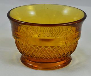 Vintage Davidson Art Deco Amber Glass Bowl Pattern No 1907 T
