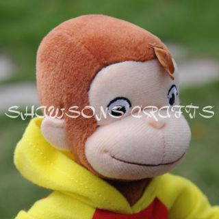 Curious George TV Sereis Toys in sweat Shirt Plush Stffed Doll 7 5