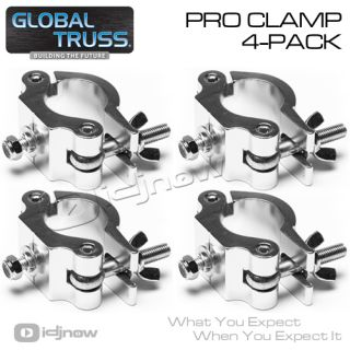 Global Truss Pro Clamp Heavy Duty Lighting Clamp 4 Pack