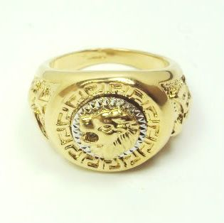 New Heavy MEN18K Gold Plated Ring Size 11