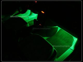 Dodge Green LED Strip Lights Interior Glow Strips