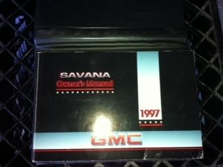 OEM 1997 GMC Savana Owners Manual with Case
