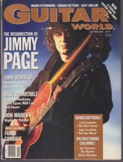 Vintage Guitar World Magazine Oct 1988 Jimmy Page LED Zepplin Iron
