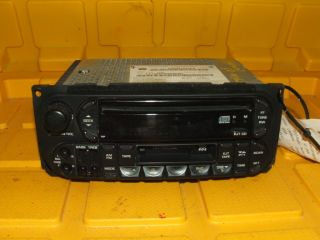 02 07 06 Caravan Ram Grand Cherokee Dakota Radio CD Player Tape 2002