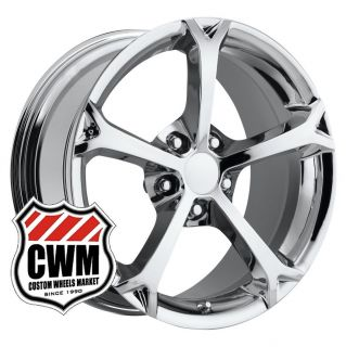 18x9 5 Corvette C6 Grand Sport Chrome Wheels Rims Fit C4 84 87 Camaro
