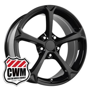 18x9 5 Corvette C6 Grand Sport Black Wheels Rims fit C4 1984 87 Camaro