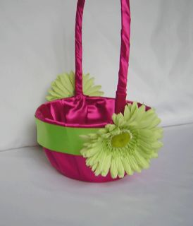 Gerbera Daisy Flower Girl Basket Ring Pillow Your Color