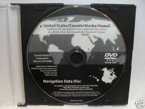 GM Navigation Map Disc DVD 20857425 4 1c