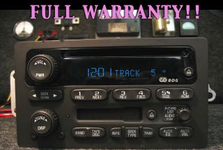 GMC GM CHEVY CD DISC TAPE PLAYER XM RADIO SIERRA SILVERADO YUKON 03 04