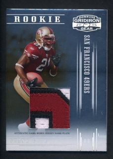 2004 Donruss Gridiron Gear Frank Gore RC Prime Patch