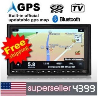 Double DIN Car Audio DVD Player GPS Navigation SD TV