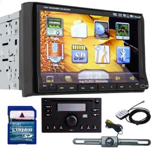 Newest Double DIN Deck GPS Navigation 7 Car DVD Player HD iPod