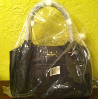 Kate Spade NY Baxter Street Stevie Black Handbag Purse WKRU1380 New in