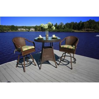 Oxford Garden Dartmoor 3 Piece Bar Height Dining Set