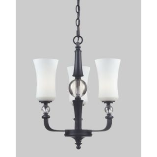 Dale Tiffany Buchanon 3 Light Crystal Chandelier