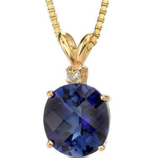 Oravo 14 Karat Yellow Gold 6.50 Carats Oval Checkerboard Cut Sapphire