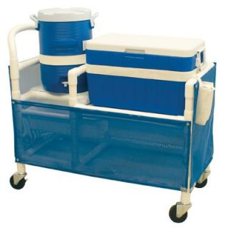 MJM International Hydration Cart with 48 Quart Ice Chest, 5 Gallon