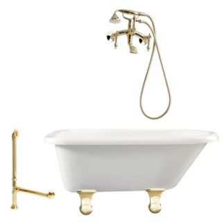Giagni Brighton 60 Roll Top Tub with Wall Mount Faucet