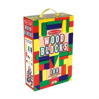 Melissa and Doug 100 Wooden Building Block Set