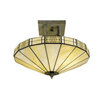 Dale Tiffany Umbrella Semi Flush Mount   8678/2LTF