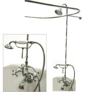 Elements of Design Vintage Volume Control Tub and Shower Faucets with