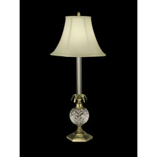 Dale Tiffany One Light Crystal Buffet Lamp in Antique Brass