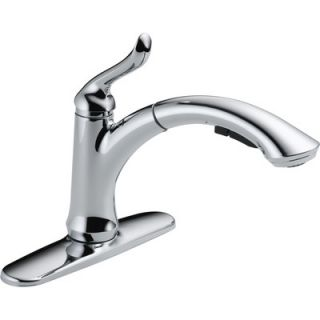 Delta Linden Single Handle Centerset Pull Out Kitchen Faucet   4353