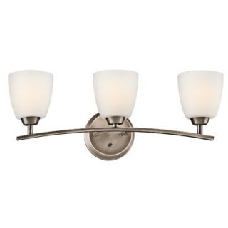 Kichler Granby Three Light Bath Vanity in Brushed Pewter   45360BPT